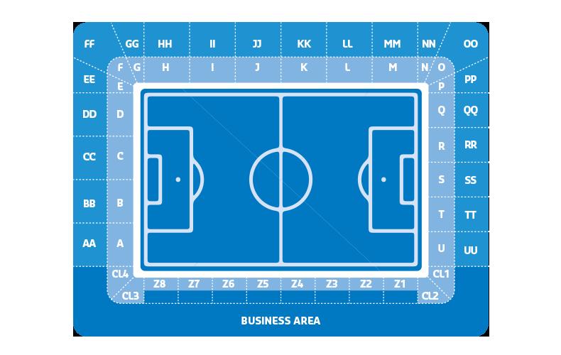 Krc Genk abonnement plattegrond-stadion