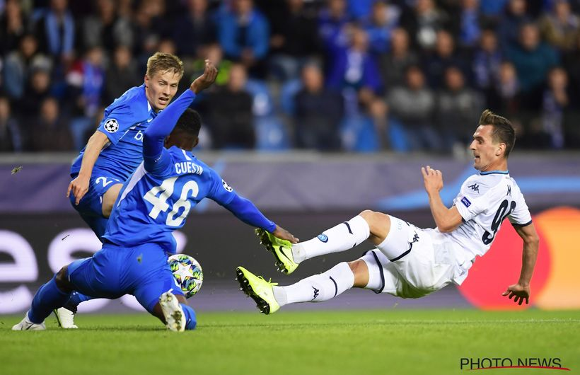 KRC Genk 0 - 0 SSC Napoli, the first Champions League point is ours.